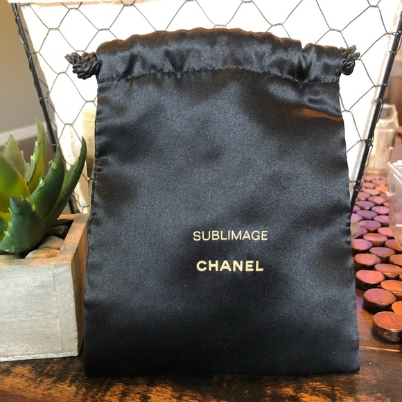 CHANEL Other - 4 for $30 CHANEL Mini Black Satin Drawstring Pouch